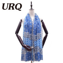 New Spring Big Soft Viscose Scarf Floral Stype Oversize Scarf Shawl Wrap Woman Foulard Shawls V9A18777(China)