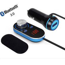 ENKLOV New Bluetooth Handsfree FM Transmitter Car FM Transmitter Car Radio Bluetooth FM Transmitter 5V / 2.4A Output Power ABS(China)