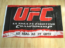 UFC Red Black Flag Banner Sign 3X5FT Ultimate Fighting Championship Wall Deco