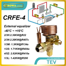 CRFE-4 (1.17KW R134a) thermostatic expansion valves designed for Secop (danfoss) black compressor SC12GX and SC15GX in cooling(China)