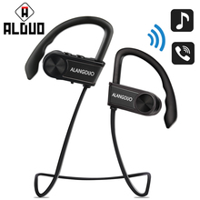 Original Bluetooth Earphone Sports Wireless Earhook With Mic For iPhone Xiaomi Wireless Ear Phone Super Bass IPX7 Waterproof(China)