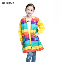 2017 Rushed Rechar Hot Sale Fashion Unisex Waterproof Kids Boys Girls Children Rainbow Raincoat Sleeveless Cloak Free Shipping(China)