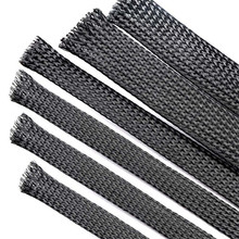 Cable Sleeves 1/2/4/6/8/10/12/16mm black Snakeskin mesh Wire Protecting PET Nylon Cable Sleeve wire mesh shock for cable sets