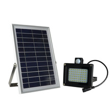 Outdoor Waterproof Solar Floodlight Motion Sensor 54 LED Street Focused LED Flag Light with Hardware for Flag Pole Lawn Driveway(China)