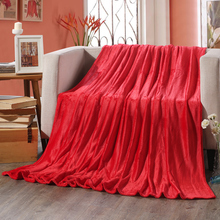 Free shipping bedding blanket coral fleece blanket sofa / bed/ bedspread / blanket 120x200cm linen multifunction multiple sizes(China)