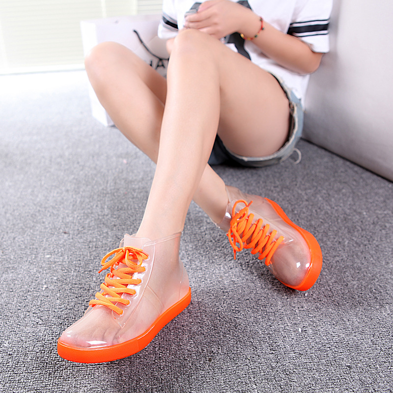 SexeMara Brand 2017 Women Rain Boots Leisure Summer Boots Waterproof Transparent Boots Jelly Shoes Fashion Botas Mujer Zapatos<br><br>Aliexpress