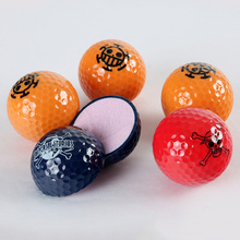 Multicolor Choose Cute Cartoon GOLF Ball Exercise Two Piece/2layer Distance Ball Competition Plating Crystal Balls Accessories(China)