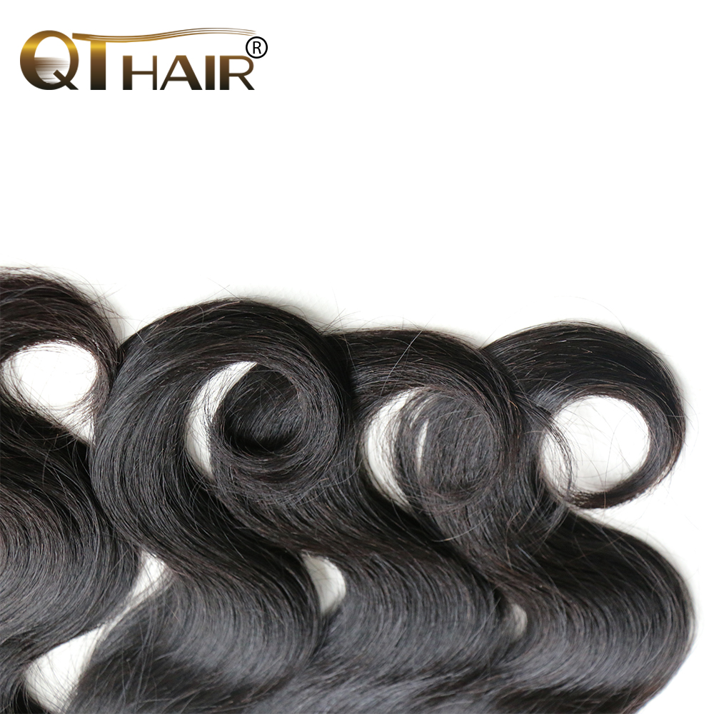 QThair Remy Hair 13×4 Brazilian Lace Frontal 100% Human Hair Body Wave Lace Frontal Closure Free Shipping Natural Color