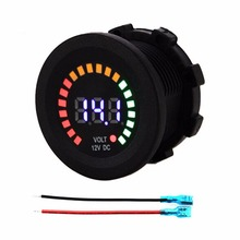 Colorful LED DC 12V Car Styling Car Motorcycle Boat Digital Panel Voltage Voltmeter Meter Tester Led Display New(China)