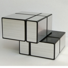 Second - order mirror cube black wire drawing 2 - order silver mirror Fidget Cube Toys