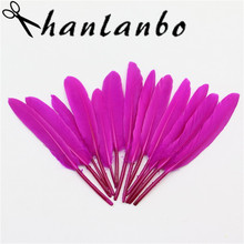 3-5inch 20pcs 50pcs 100pcs  rose red small swan duck plumes apperal s natural Goose Feather Craft show perform decoration