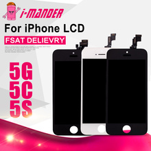 10PCS For iPhone 5 5s 5c LCD Display Screen With Touch Digitizer Front Assembly Repartment AAA Quality Hot Sale Fast Free Ship(China)