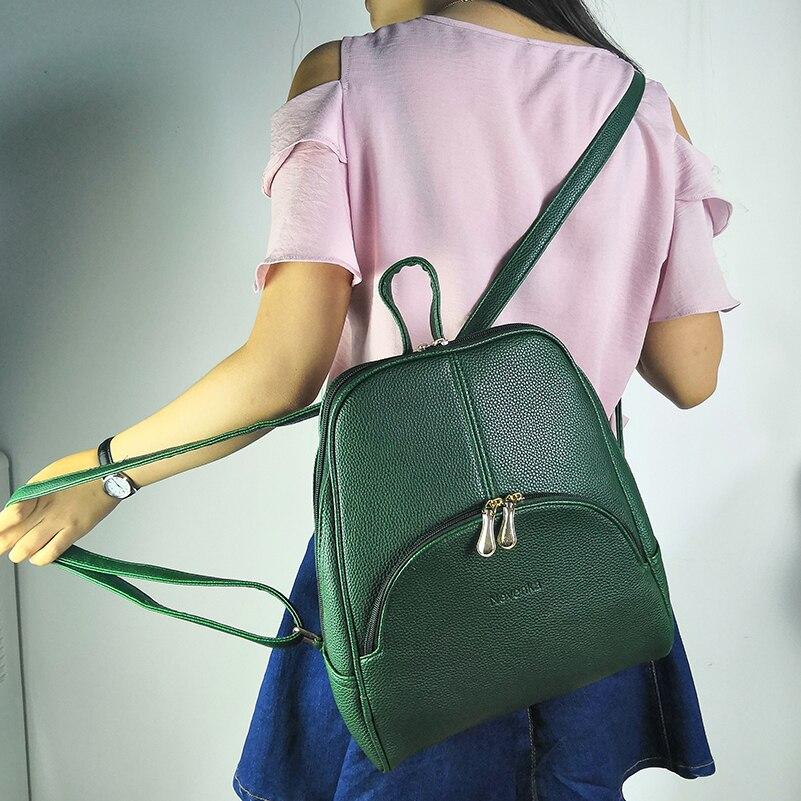 Nevenka Women Backpack Leather Backpacks Softback Bags Brand Name Bag Preppy Style Bag Casual Backpacks Teenagers Backpack Sac04