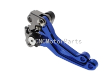 CNC Dirt Bike Pivot Clutch Brake Levers Off Road Blue One Pair Foldable Three Finger For Yamaha WR450F 2005-2015 2007 2008 2012