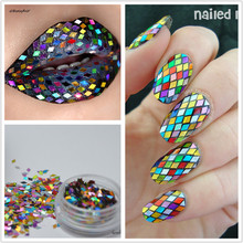 1 Box 2mm Rhombus Paillette Nail Sequins Sparkling Colorful Glitter Nail Art Decorations