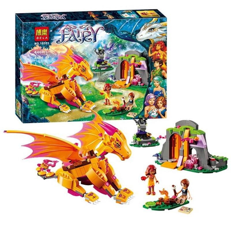10503 Bela Elves Azari The Magical Bakery Fire dragon 41175 Building Blocks blockset Girls Princess Fairy Compatiable With Legoe<br>
