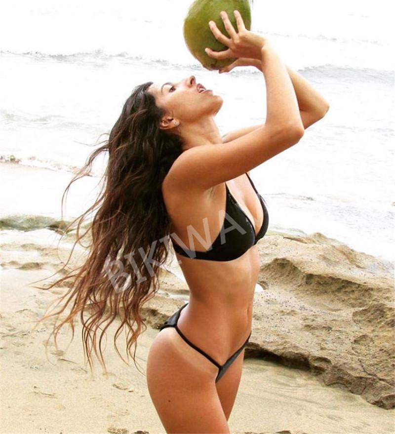 19 Sexy Bikini Set Brazilian Cut Swimsuit Women Swimwear Halter Biquinis Retro Style Cheeky Simple Thong Bikinis Hot maillot 12