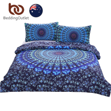 BeddingOutlet Moonlight Bedding Set Bohemia Blue Nice Gift Plain Boho Duvet Cover Set Home Textiles Single Double Queen AU SIZE(China)