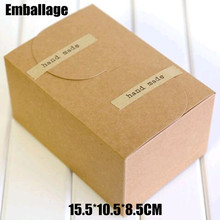 Food Accept Sale Caixa Cardboard Box Wholesale 50pcs/lot Gift Paper Boxes Small Kraft for Cake Packing 15.5*10.5*8.5cm