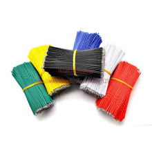 (50pcs/lot) 8cm 80mm 24AWG Colors Double Tinned Tin Plated Electronic Copper Wire Jumper Wire Cable Easy to Welding(China)