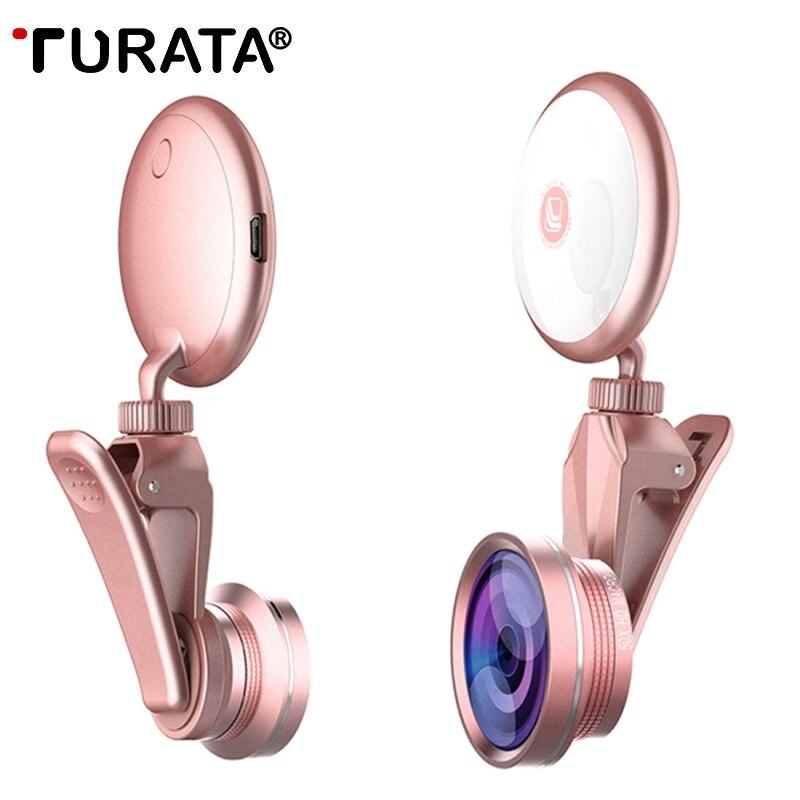 Anillo de luz, autofoto con HD, ojo de pez, gran angular  para iPhone Samsung
