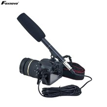 Foxnovo Professional Studio Broadcasting Recording Condenser Microphone Camcorder Shotgun Microphone for Media Interview