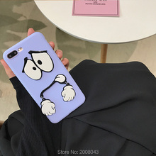 Korea Purchase 3D Cartoon Funny Face with Swing Hands Case for iPhone 7 7plus 6 6s 6plus 6splus Hard Capas Fundas