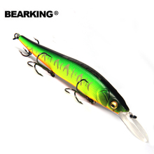 Bearking Great Discount!Retail A+ fishing lures, assorted colors, minnow crank 110mm 14g,Tungsten ball 2016 hot model crank bait