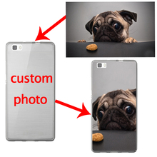 Custom DIY Photo Logo Name Phone Case for Huawei P9 P8 lite 2017 P10 Plus Lite Mate 9 G9 Coque Soft Silicon Clear TPU Funda Capa(China)