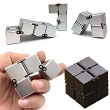 Infinity Stress Cube High Quality Fidget Stress Cube Anti Stress Magic Finger spinners Hand Out Door Game Toys Metal Adult ADHD