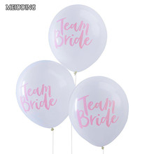 MEIDDING-10pcs/lot 12inch TEAM BRIDE latex balloon for wedding/bride shower/hens Party Balloons decoration party supplies