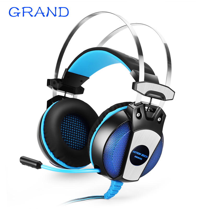GS500 3.5mm Gaming Game Headphone Earphone Headband with Mic Stereo Bass LED Light for PS4 PC Computer Laptop Mobile Phones<br>