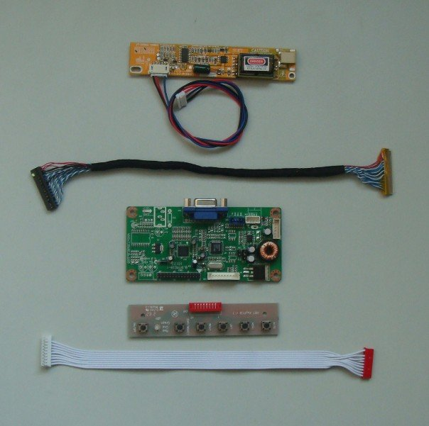 VGA lcd controller board for 17inch~19inch lcd panel 6bit/8bit LVDS interface screen model lcd for Raspberry Pi<br>