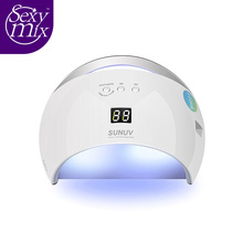 48W UV Lamp Nail Dryer SUN6 UV Led Lamp Nail LED Dryer Polish Machine for Curing UV Gel Polish Double Power Fast(China)