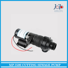 MP-3500 Trailer Yacht Kitchen Toilet Pipe Use Cutting 12V Sewage Pump Household Septic Tank 45L/min, 3m, 28/48mm