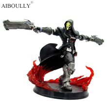 26cm hot Game OW Azrael Death Reaper Ultimate skill Ripper Action Figure Model Toys Anime Game Doll Toy christmas Gift reaper