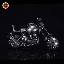 New Coming Handmade Bronze Color Metal Motorcycle Model Toys Home Decoration Birthday Gift