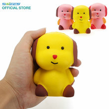 Kawaii Jumbo Cute 10cm Puppy Dog Doll Squishy Slow Rising Phone Straps Pendant Sweet Animal Cream Scented Bread Kids Toys Gift