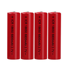 Best Price 4PCS 3.7V 6800mAH Li-ion Rechargeable 18650 Battery For Flashlight Torch(China)