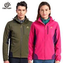 TECTOP Men Women Camping Softshell Jacket Thermal Outdoor Hiking Winter Jacket Windproof Outdoor Windproof Waterproof Clothing