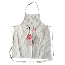life is  sweet style men women linen & cotton kitchen cooking apron for couples cleaning aprons