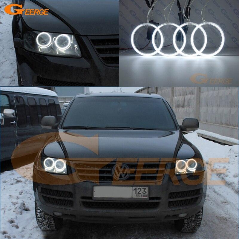 For Volkswagen VW Touareg 2004 2005 2006 2007 HALOGEN HEADLIGHT Excellent Ultra bright illumination CCFL Angel Eyes kit<br>