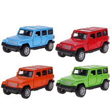 1:32 Off-road Vehicle Car-styling Simulation Alloy Car Collection Diecast Metal Auto Model Toy for Jeep Wrangler(China)