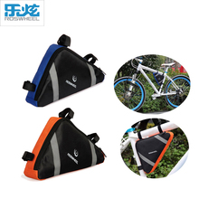 Roswheel Hot Waterproof Mountain Bike Cycling Bicycle Bag Front Frame PVC Tube Bag Triangle Bike Bag Blue/Orange Bicicleta