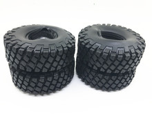 114mm 1.9'' Rubber Rocks Tyres / Wheel Tires for 1.9 Inch 1:10 RC Rock Crawler Wheels SCX10 RC4WD D90 Black
