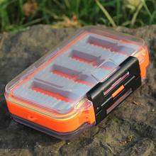 Plastic Waterproof fly fishing Double Side Clear Slit Foam fly Fishing Box FLY BOX Tackle Case Box