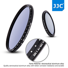 JJC F-NDV 49mm 52mm 58mm 62mm 67mm 72mm 77mm 82mm Variable Neutral Density Filter ND 2 To ND 400 Fader Adjustable Light Filters