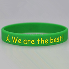 300pcs Debossed Custom we are the best wristband silicone bracelets free shipping by FEDEX express