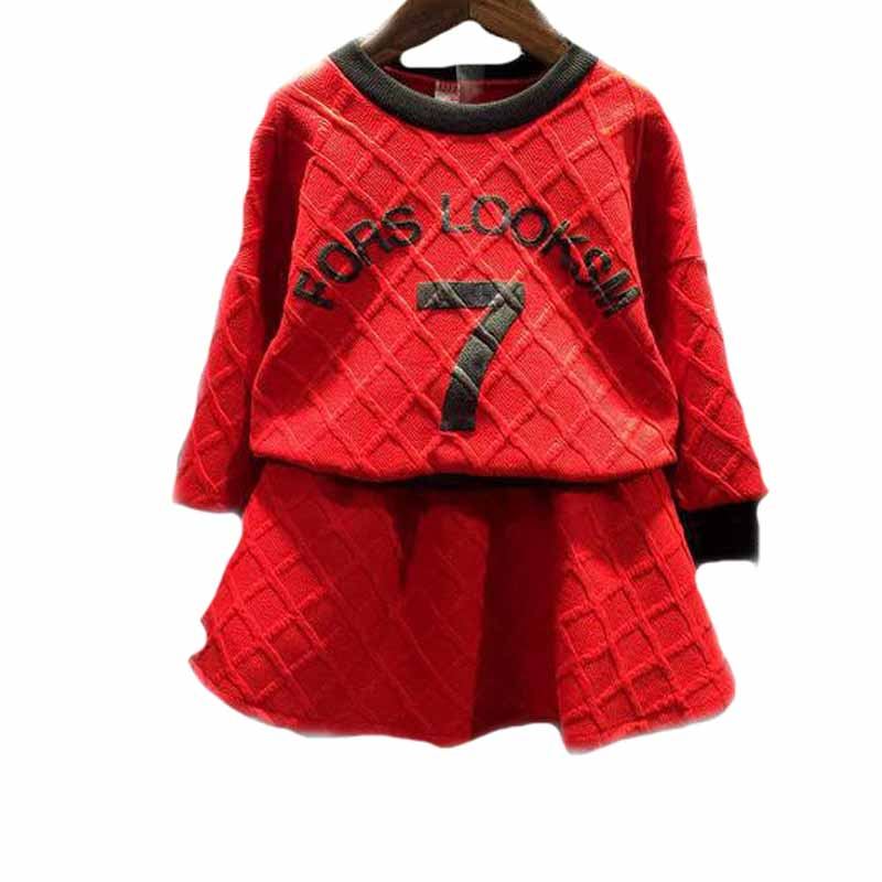 2017 new baby girl clothing sets letter cartoon printed children clothing set long sleeve baby tracksuits top fleece+tutu skirt<br><br>Aliexpress