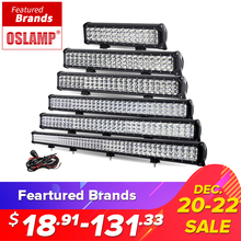 "Oslamp 12"" 20"" 23"" 28"" 31"" 44"" 3-Row LED Light Bar Offroad Combo Beam Led Work Light Bar DC12v 24v Truck SUV ATV 4WD 4x4 Led Bar(China)"
